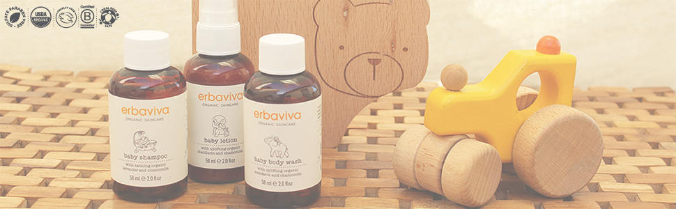 erbaviva organic skincare baby collection