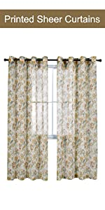 yellow floral sheer curtains
