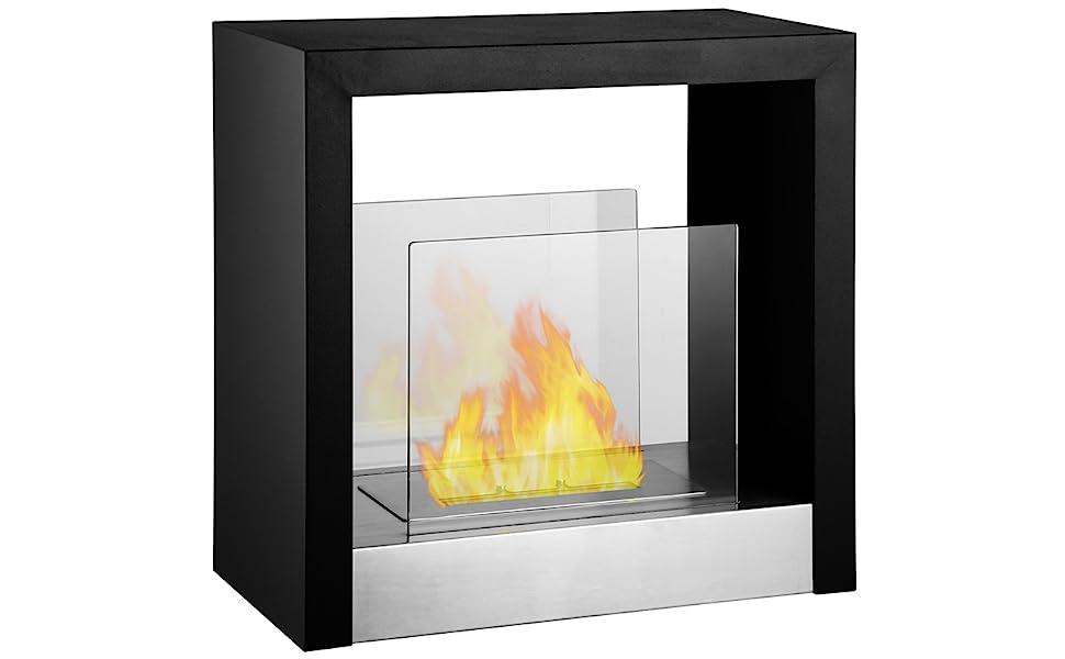 Tectum S - Ventless Freestanding Ethanol Fireplace