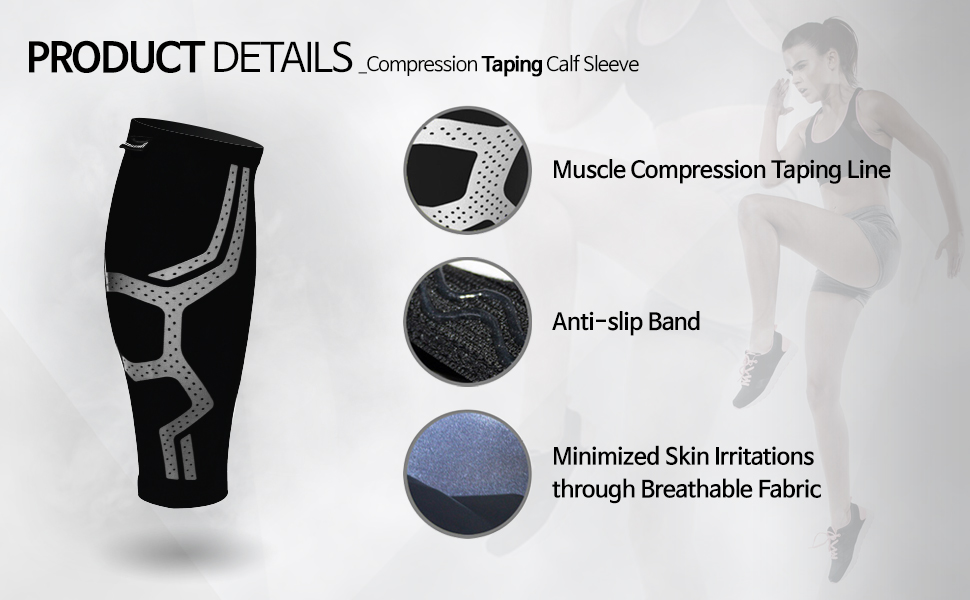 Compression Taping Calf Sleeve