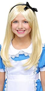 Alice in wonderland, wig, blonde wig