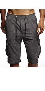 elastic waist shorts men
