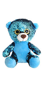 sequin teddy bear
