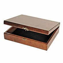 brass latches walnut stained wooden box