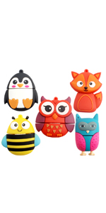 Animals Flash Drive(5 Pack)