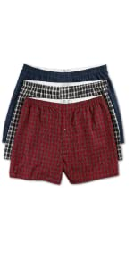 Harbor Bay by DXL Big and Tall 3-Pack Tartan Plaid Woven Boxers