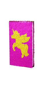 magic sequin journal office notebook paper notes shcool diary girls children gift present birthday