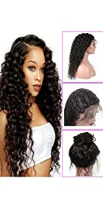 Younsolo Deep Wave Lace Front Wigs