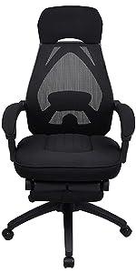 black net chair