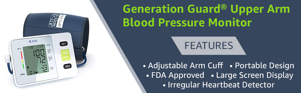 generation guard upper arm blood pressure monitor features