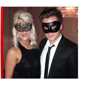 Black Venetian Party Men's Masquerade Mask