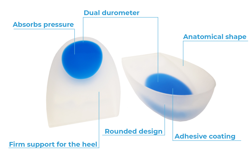 Silicone Heel Cup Abosrbs Pressure