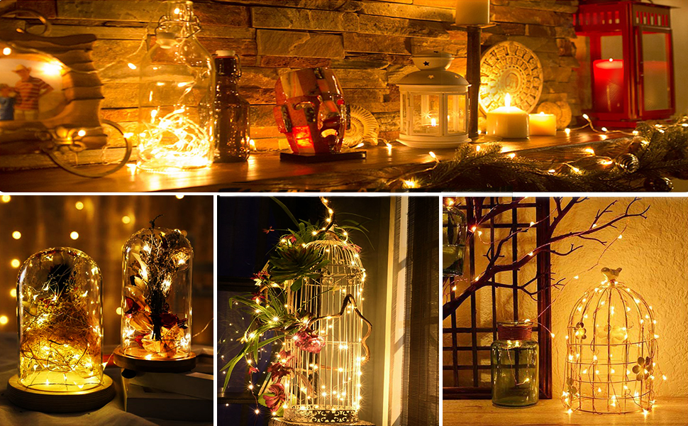 fairy lights 100 led usb battery indoor outdoor bedroom girl warm white patio string christmas diy