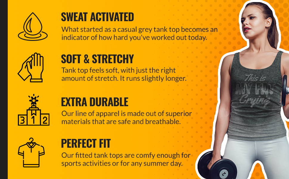 actizio sweat activated tops in different designs, sweat activated women, women's t-shirts, tanks