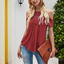 womens cold shoulder tops flowy summer tops for women juniors high neck tops for women sexy tops