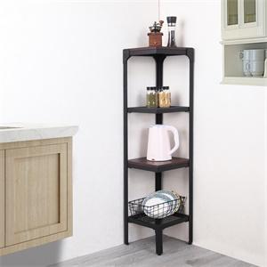 narrow corner bookshelves for small spaces