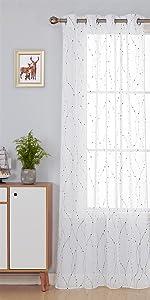 grommet white sheer curtains for bedroom living room