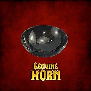 High quality authentic horn medieval Viking bowl genuine renaissance D&D LARP SCA