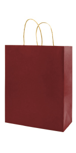 Red 5.25*3.25*8 inch Brown 100Pcs Small Kraft Bags with handles