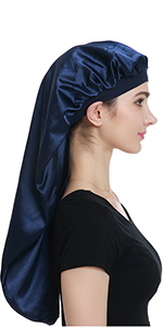 long satin bonnet