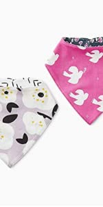 Tea Collection Reversible Bib Two-Pack, One Size Fits Most, Love Doves