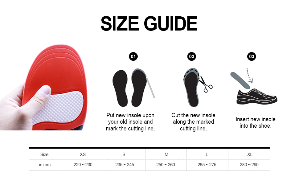New Outdoor Climbing Shoes Insoles Size Guide