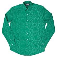 green long sleeve button down shirt