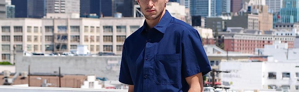 Classic Uniform Button Up Shirt