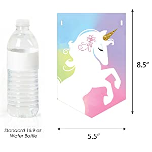 Rainbow Unicorn Bunting Banner - Party Decorations