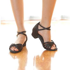 Girls Black Latin Shoes