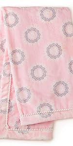 pink blanket levtex baby crib