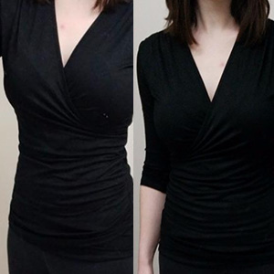Womens Deep V-Neck Surplice Tops for summer, fall and spring