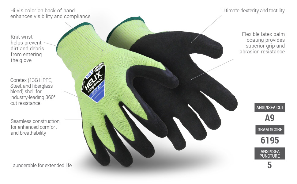 helix 2061 glove features