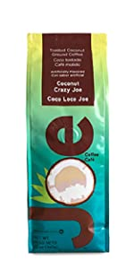 A taste from the islands. Toasted coconut flavored gourmet ground coffee