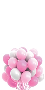 pink white party balloons baby shower girl