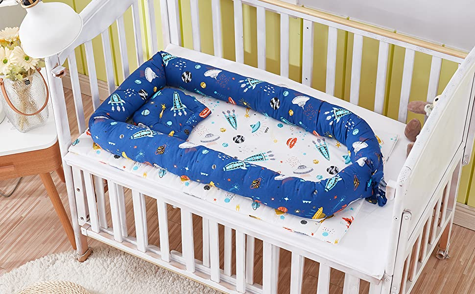 brandream baby bassinet bed outer space galaxy nest bed newborn lounger