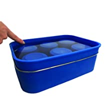 the silicone giant ice mold can hold a lot of water to make ice for your cooler