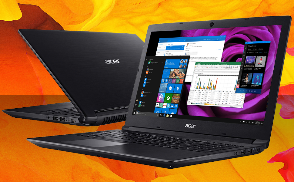 Acer Aspire 3 Notebook 15.6 HD Ryzen 5 2500U Windows 10 Pro feature image HD screen bright color