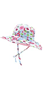 Kids Double Sides Sun Hat Adjustable Size For Baby Kids 0-8T