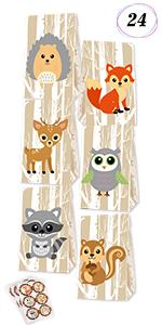 Woodland Creatures Favor Bags