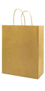 Not thickened Medium 8*4.75*10 inch Brown 100Pcs Kraft Bags