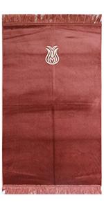 Modefa Velour Solid Simple Islamic Prayer Rug Turkish carpet mat janamaz sajjadah