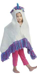 Cute & soft Knitting hooded blanket for kids and adults hand made hooded blanket warm