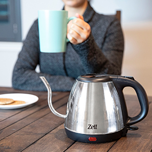 zell kitchen electric kettle stainless steel kettle gooseneck kettle for pour over coffee tea