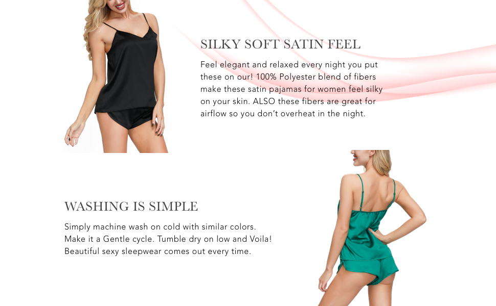 Silky Soft Satin Feel & Washing is Simple