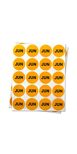 1PK |1 inch - Round Months of the Year: June Stickers