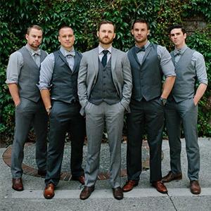 men's business wedding party vest