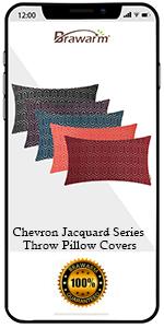 Chevron Jacquiard Bolster Pillow Covers