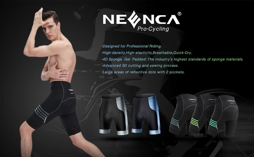 XGC Mens Cycling Shorts//Bike Shorts and Cycling Underwear with High-Density and High-Elasticity 4D Sponge Padded