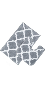 Pauwer Bath Rug Set 2 Piece